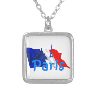 Paris France Silver Plated Necklace