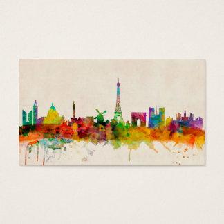 Paris France Skyline Cityscape Business Card