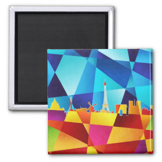 Paris France Skyline Cityscape Refrigerator Magnets