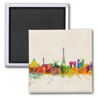 Paris France Skyline Cityscape Refrigerator Magnet
