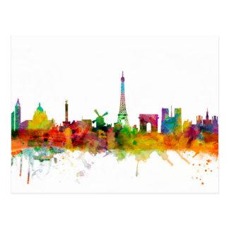 Paris France Skyline Postcard