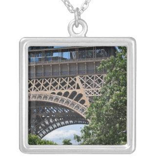 Paris, France Square Pendant Necklace