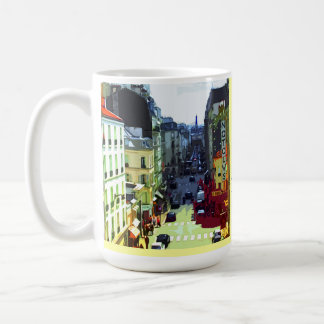 Paris, France Street, Best Habit Is Travel Coffee Mug