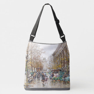 Paris France Street Flower Seller ShoulderTote Bag