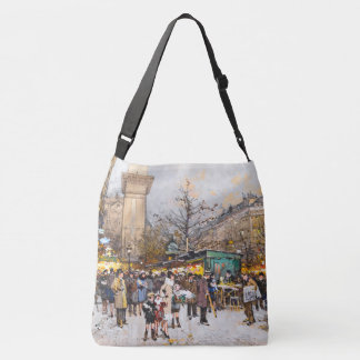 Paris France Street Flower Sellers Market Tote Bag