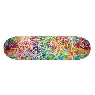 Paris France Street Map Skate Board Decks