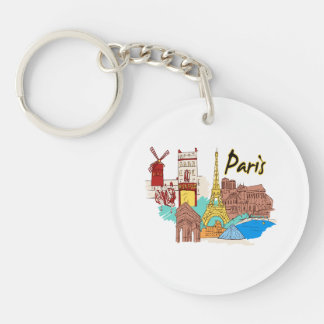 paris france travel image.png acrylic key chain