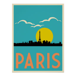 Paris, France, Travel poster
