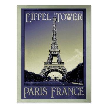 sumners paris france vintage look postcard