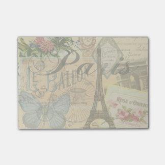 Paris France Vintage Travel Collage Post-it Notes