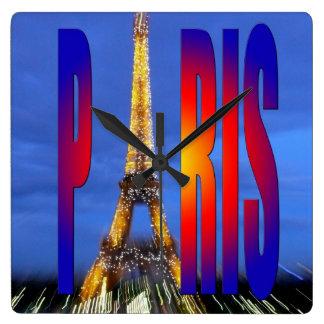 Paris France Wallclock