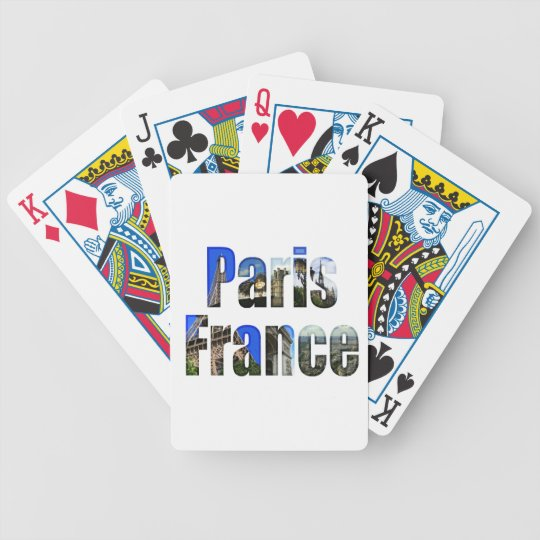 Paris France with tourist attractions Bicycle Playing Cards