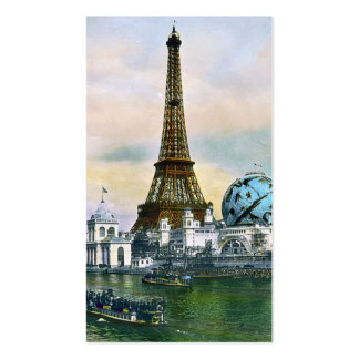 Paris France World Fair 1889 - Vintage Travel Business Card