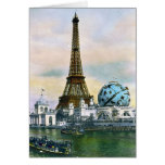 Paris France World Fair 1889 - Vintage Travel Card