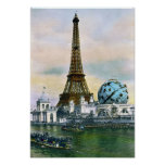 Paris France World Fair 1889 - Vintage Travel Poster
