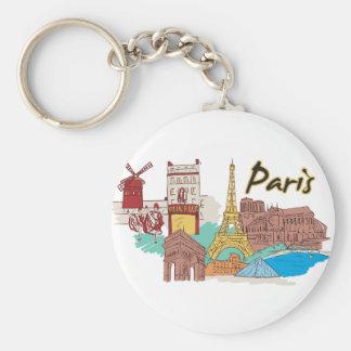 Paris, France World Famous City Keychain