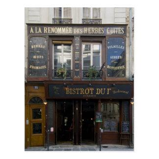 ~ París Francia del restaurante del ~ del bar de v Postales