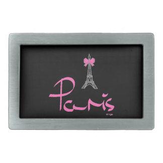 París, - Francia, francés del Rosado-Arco Hebillas De Cinturón Rectangulares
