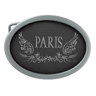 PARÍS, Francia Hebillas Cinturón Ovales