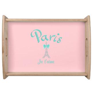 París, Francia Je T'aime Bandejas