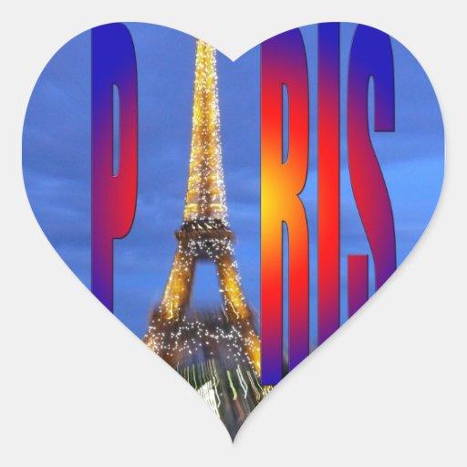 París Francia Pegatina En Forma De Corazón