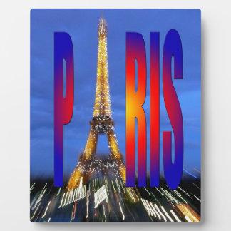 París Francia Placas Con Foto