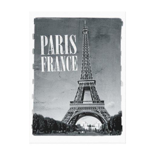 París Francia retra Impresion En Lona