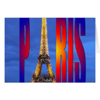 París Francia Tarjeta De Felicitación