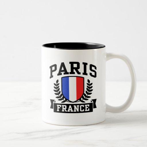París Francia Tazas