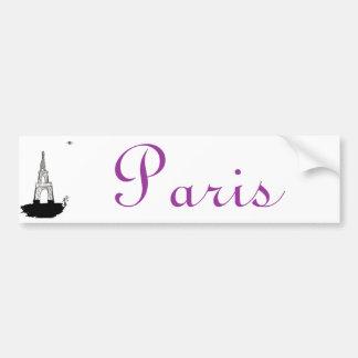 París, Francia y torre Eiffel Pegatina Para Auto