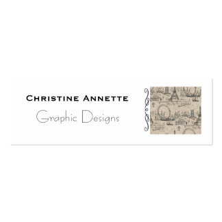 Paris French Business - Calling Card Double-Sided Mini Business Cards (Pack Of 20)