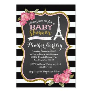paris baby shower invitations announcements zazzle