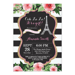 Paris baby shower invitations announcements zazzle paris french eiffel tower baby shower invitation filmwisefo Gallery