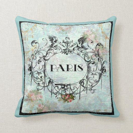 Vintage Inspired Throw Pillows : Paris French Ornate Vintage Style Cartouche Throw Pillow Zazzle