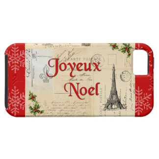 Paris French Postcards Christmas Case iPhone 5 Covers