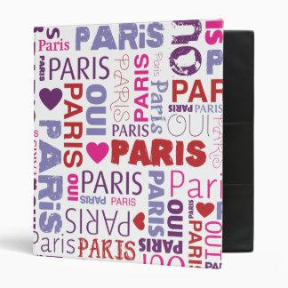 Paris french typography photo album binder