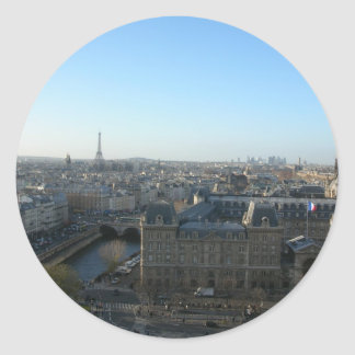 Paris from Notre-Dame Classic Round Sticker