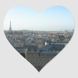 Paris from Notre-Dame Heart Sticker