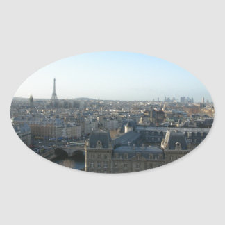 Paris from Notre-Dame Oval Sticker