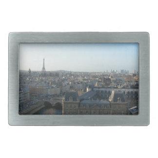 Paris from Notre-Dame Rectangular Belt Buckle
