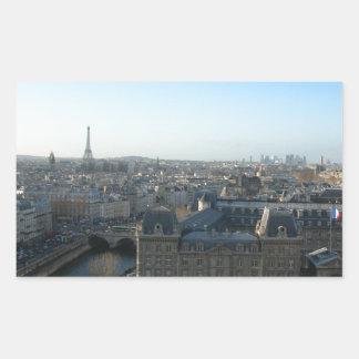 Paris from Notre-Dame Rectangular Sticker