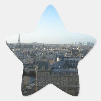 Paris from Notre-Dame Star Sticker