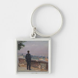 Paris from the observatory at Meudon Keychain