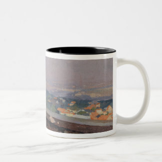 Paris from the observatory at Meudon Two-Tone Coffee Mug