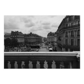 Paris from the Opera Garnier Poster