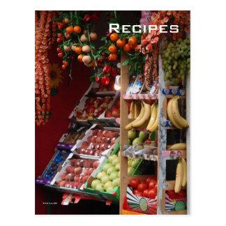 Paris Fruit Market Postcard