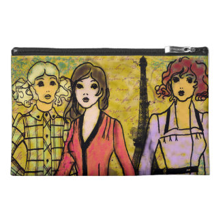 Paris girls artwork by Lisa Casineau Travel Accessory Bag