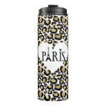 Paris Gold Leopard Thermal Tumbler