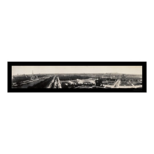 Paris Grand Panorama Photo 1909 Poster