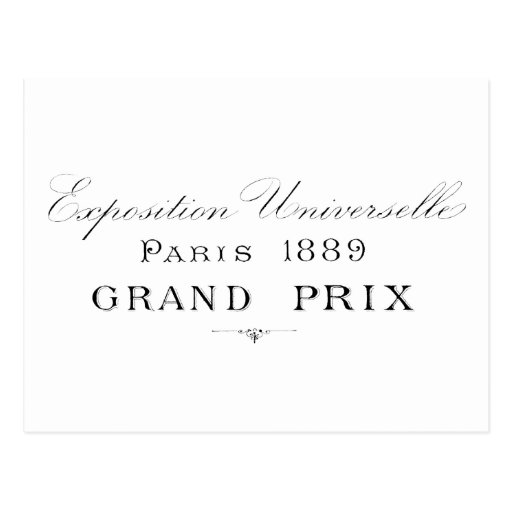 París Grand Prix 1889 Tarjeta Postal